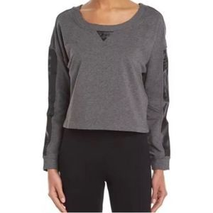 Betsey Johnson Performance cropped sweatshirt